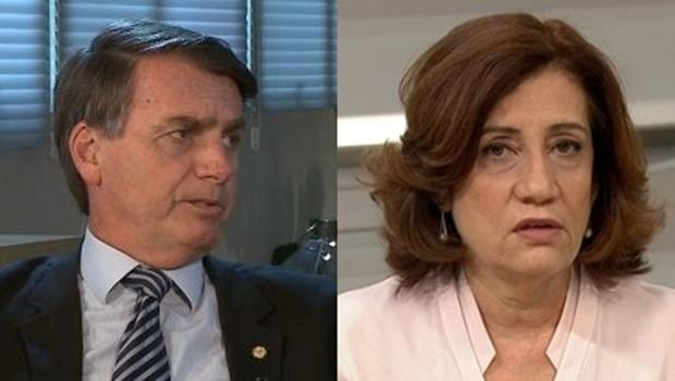 Bolsonaro tem histórico de ofensas contra jornalista que o entrevistará na Globo News. Confira