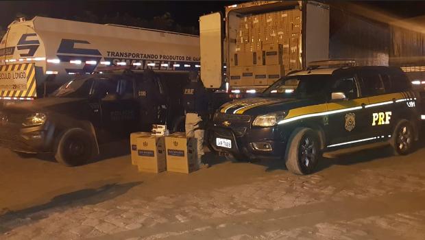 Polícia apreende mais de 3 mil caixas de cigarro em Santa Rita do Araguaia