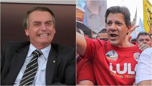Resultado de imagem para Ibope: No 2º turno, Bolsonaro tem 59% dos votos válidos e Haddad, 41%