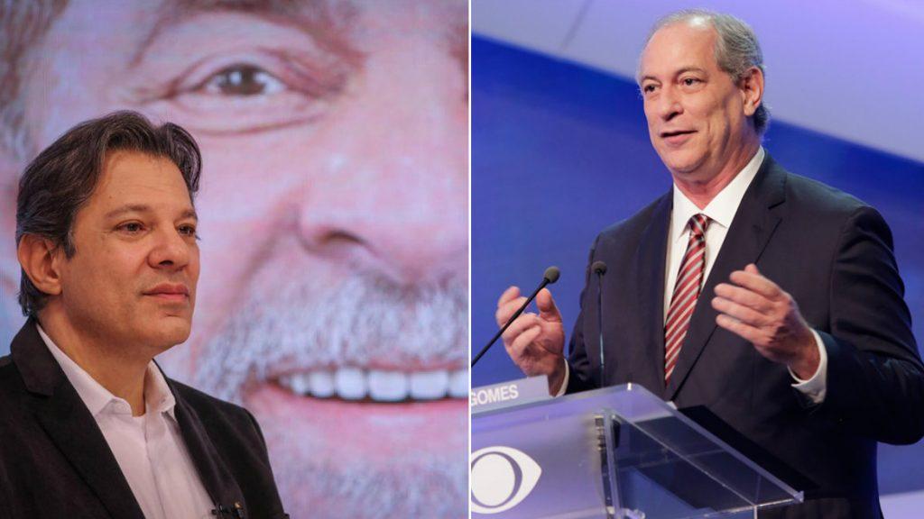 Para se aproximar de Bolsonaro, Haddad deve atropelar Ciro Gomes