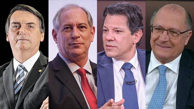 Pesquisa Datafolha: Bolsonaro tem 26%, Ciro e Haddad, 13%, e Alckmin 9%