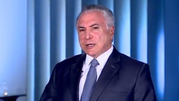Em vídeos, Temer ataca Alckmin e lembra que PSDB esteve com seu governo