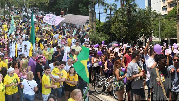 Apoiadores de Haddad e Bolsonaro promovem atos em Goiânia