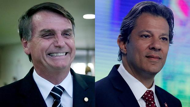 Datafolha para presidente: Bolsonaro tem 56% e Haddad, 44%