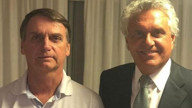 Ronaldo Caiado e Jair Bolsonaro se encontram pela primeira vez depois do segundo turno