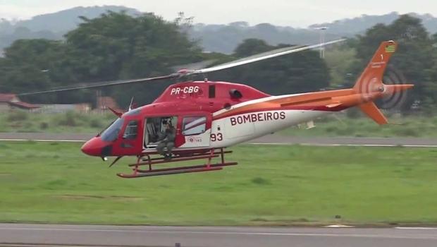 Criança se afoga e segue em helicóptero para atendimento no Hugol