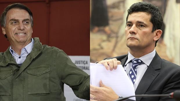 """""""Não esteve comigo durante a campanha"""", diz Bolsonaro sobre Sergio Moro"""