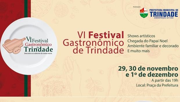 Prefeitura de Trindade promove VI Festival Gastronômico a partir desta quinta-feira (29)