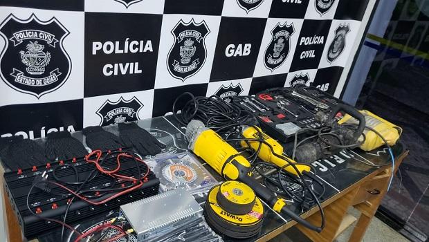 Organização criminosa é presa ao tentar arrombar agência dos Correios em Goiânia