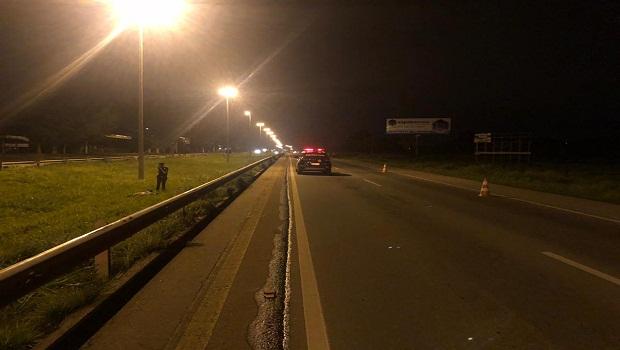 Motociclista morre após se envolver em acidente, na GO-070