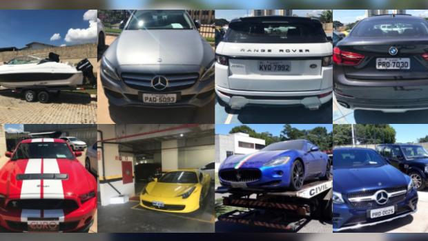 PC apreende 21 carros de luxo e R$ 7,2 mi ligados ao Comando Vermelho em Goiás