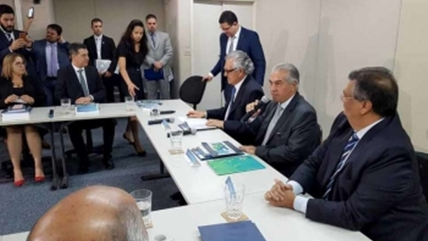 Ronaldo Caiado participa pela primeira vez do Consórcio Brasil Central em Brasília