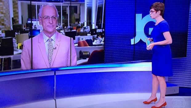 Após polêmica fala de ministra, jornalistas da Globo aparecem de figurino rosa e azul