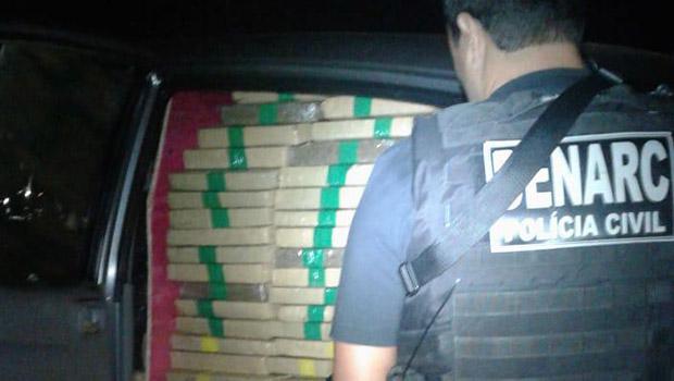 Caminhonete com mais de 1,5 tonelada de maconha é apreendida em Goiânia