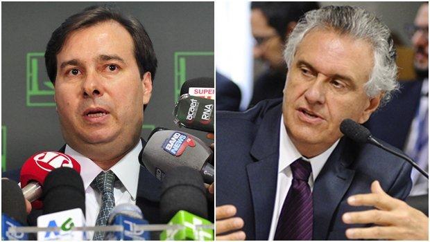 Maia discute eleições da Câmara dos Deputados em encontro com Caiado