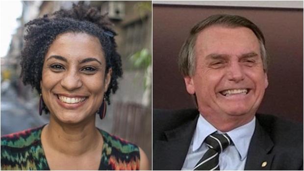 Marielle Franco e Jair Bolsonaro - Fotos Divulgação e Reprodução GloboNews.jpg