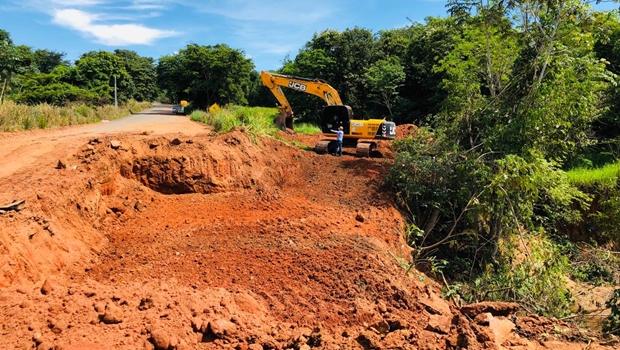 Após interdição, Governo envia material para instalação de ponte metálica na GO-060