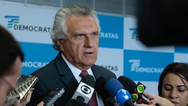 Caiado defende que DEM declare apoio ao presidente Jair Bolsonaro