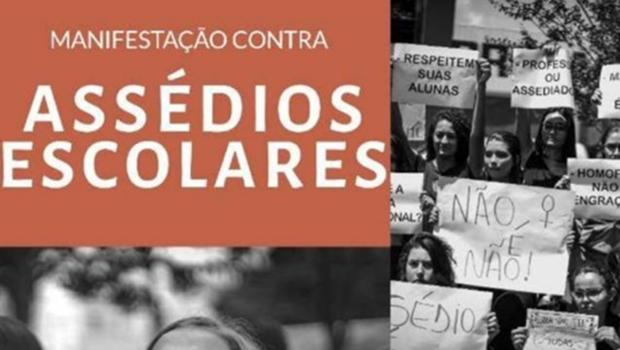 Estudantes de Goiânia realizam manifestação contra assédios escolares