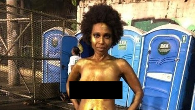Filha de pastor evangélico desfila nua na Sapucaí
