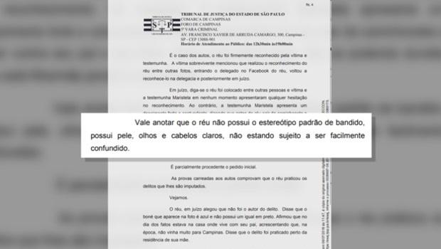 """Juíza de São Paulo diz que réu """"não parece bandido"""" por ser branco"""