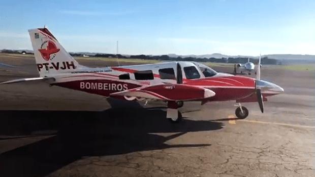 Aeronave dos Bombeiros socorre paciente com problemas respiratórios em Posse