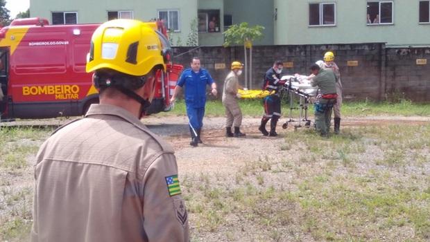 Criança engasgada é resgata por helicóptero dos Bombeiros em Goiânia