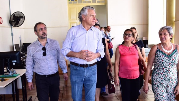 Governador Ronaldo Caiado durante sua passagem pela cidade de Goiás na última quinta-feira / Foto: Reprodução