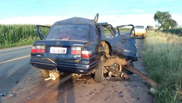 Mãe e filhas morrem após colisão entre automóvel e caminhão na BR 364