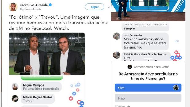 Jogo do Flamengo no Facebook