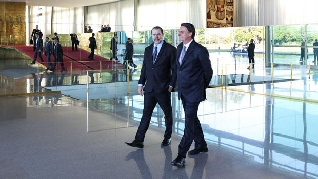 Dias Toffoli Jair Bolsonaro - Foto Marcos Corrêa PR