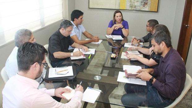 Deputada Federal Dulce Miranda recebe Júnior Geo e diretores do IFTO
