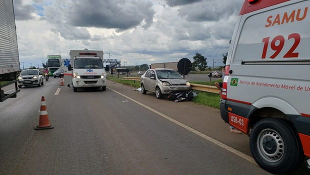 Motociclista morre em acidente na BR-153