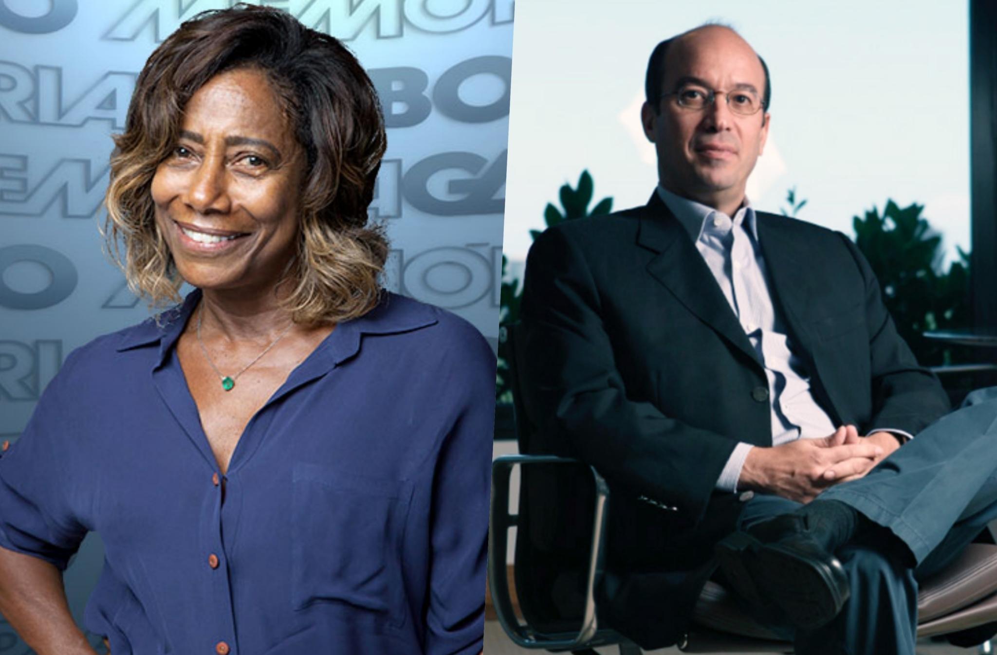 Biografia relata que a jornalista Glória Maria foi casada com filho de Roberto Marinho
