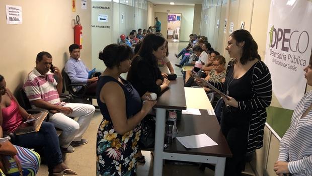 Defensoria Pública e Prefeitura fazem mutirão social em Aparecida de Goiânia