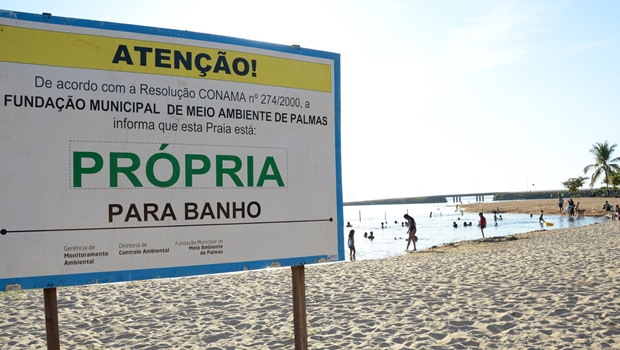 Análise de balneabilidade atesta qualidade das praias de Palmas