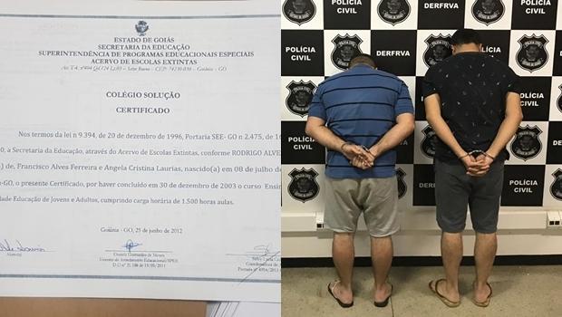 Grupo que falsificava certificados de conclusão do ensino médio é preso em Goiânia