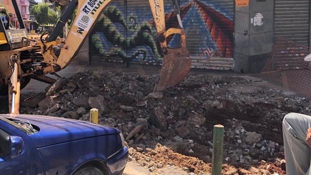 Comerciantes da Rua do Lazer reclamam da demora e desorganização da obra