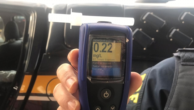 PRF registra casos de embriaguez ao volante acima da média no último fim de semana