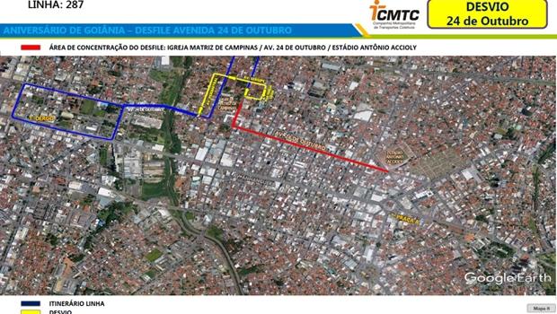 Trânsito em Goiânia será alterado para receber comemorações do aniversário da cidade