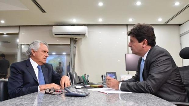 Ronaldo Caiado Luiz Henrique Mandetta - Foto Divulgação Governo de Goiás