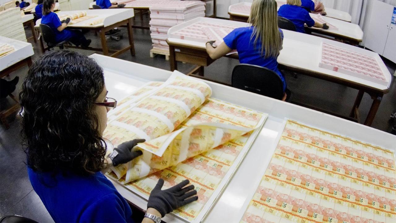 Casa da Moeda volta a ter monopólio sobre fabricação de papel-moeda