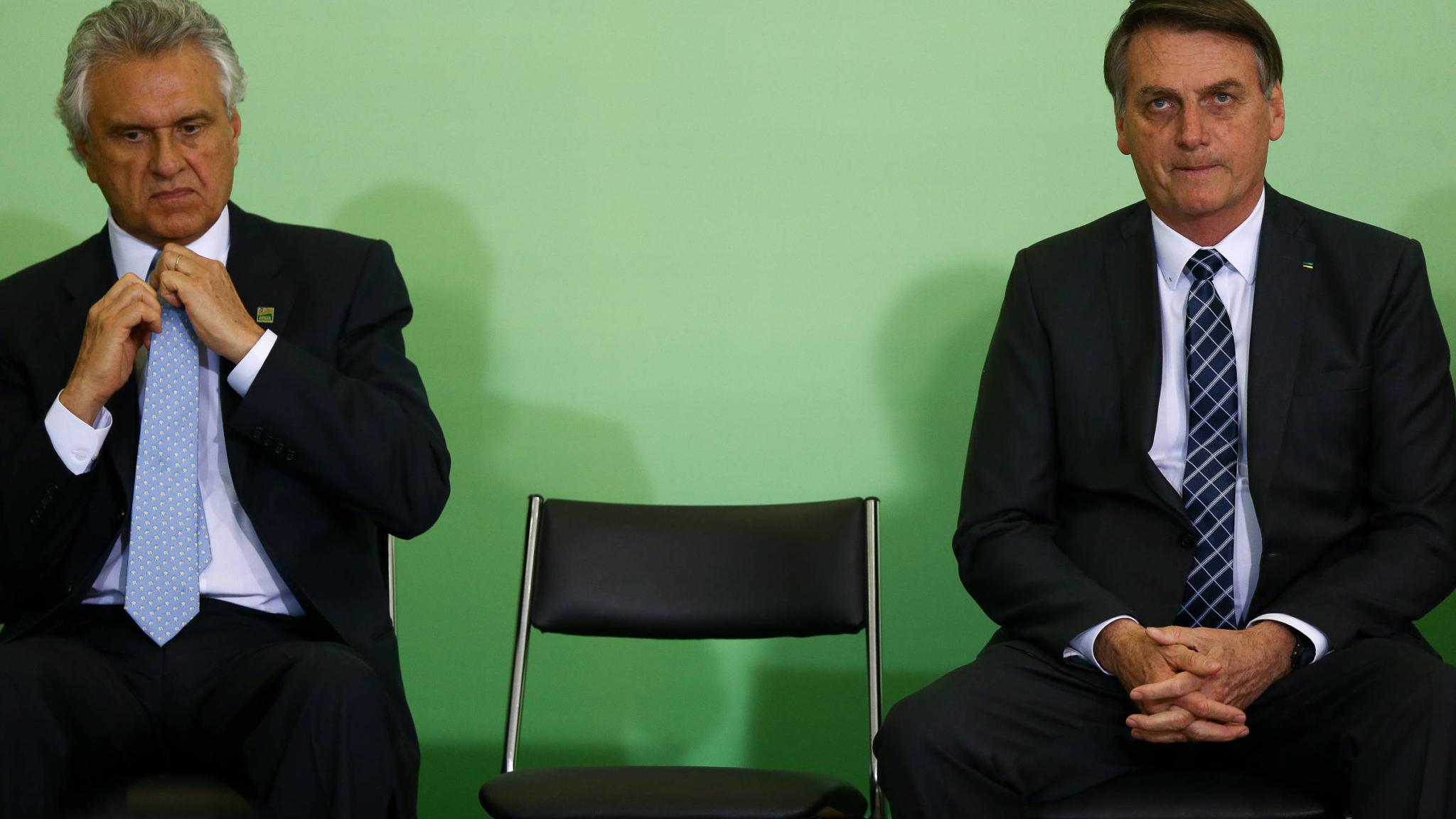 Bolsonaro, Alcolumbre e Caiado debatem união entre os poderes e fortalecimento da democracia