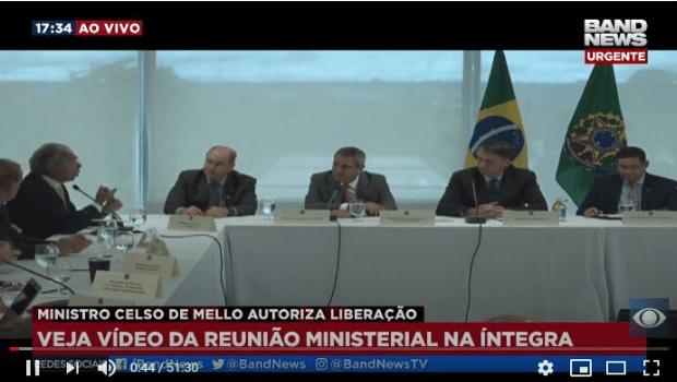 Vídeo de reunião ministerial fortalece Bolsonaro junto à militância