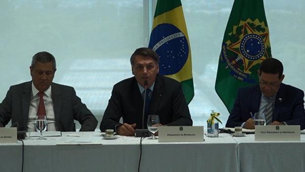 Walter Braga Netto Jair Bolsonaro Hamilton Mourão - Foto Reprodução Presidência da República