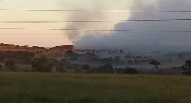 Por falta de manejamento correto, lixão de Iporá pega fogo e fumaça atinge bairros