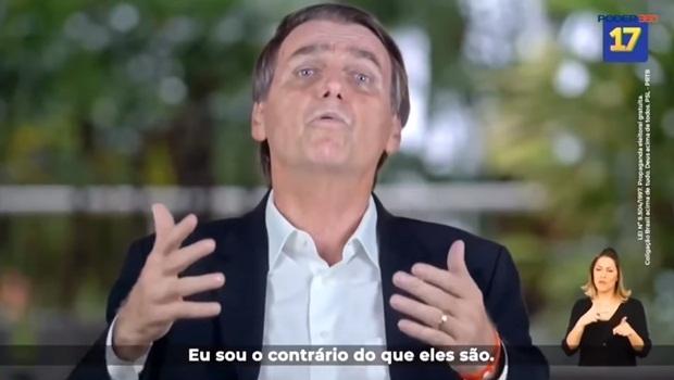 Jair Bolsonaro propaganda eleitoral 2018 contrário do que eles são segundo turno - Foto Reprodução Poder360