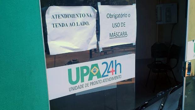 Moradores reclamam de atendimento em tendas em UPA de Ceres