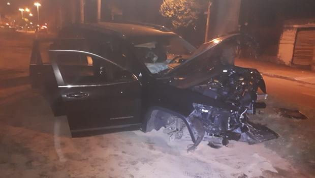 Casal fica ferido em acidente de trânsito no Jardim Florença, em Goiânia