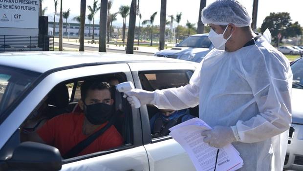 Aparecida de Goiânia abre novo drive-thru de testagem para a Covid-19